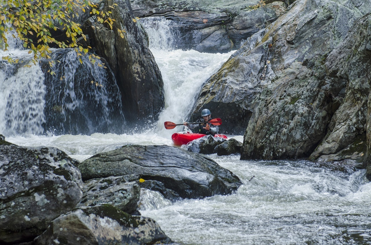 kayaking in white water