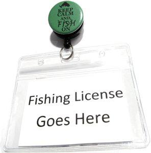 Fishing license holder