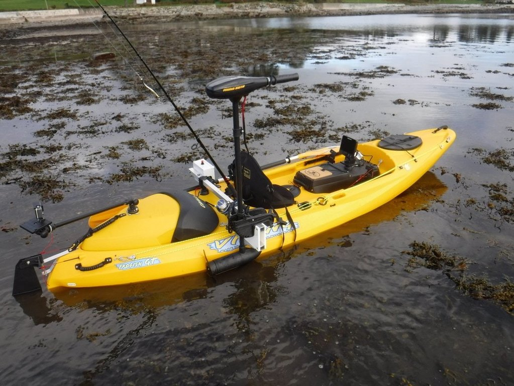 Trolling motor on kayak