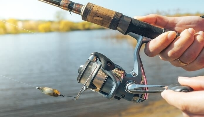 spinning reel and rod
