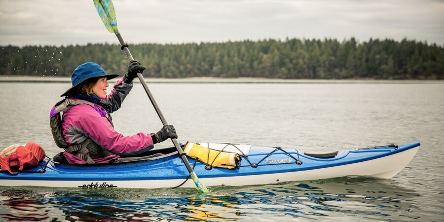 girl sitting in kayak