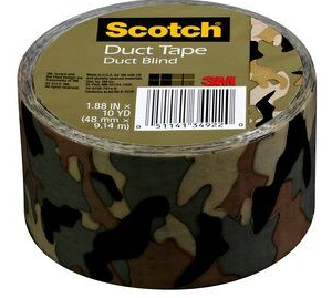 3M Scotch Duct Tape, Duct Blind