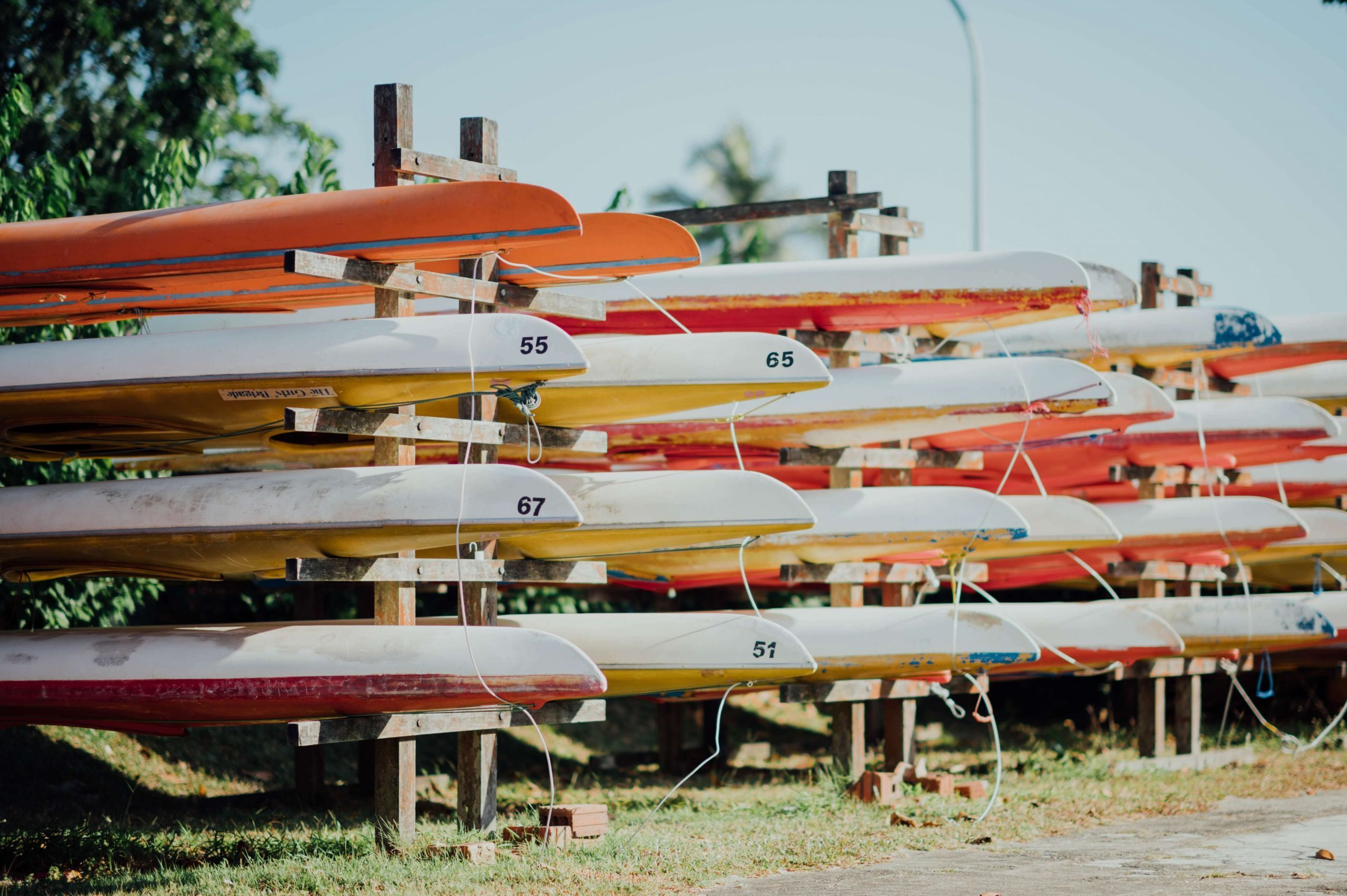 Kayak roof racks
