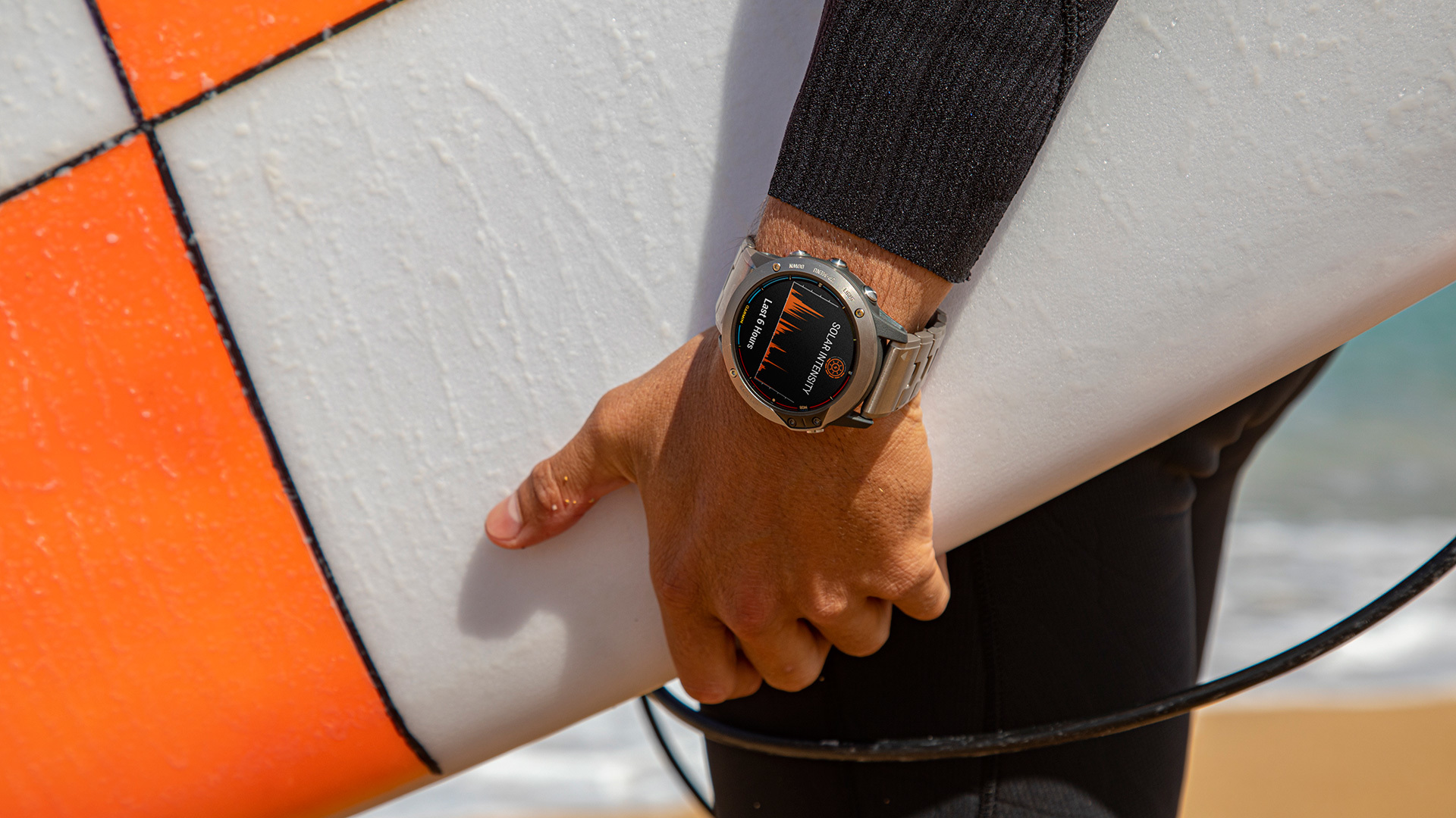 A person wearing an outdoor watch