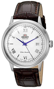 Orient Men's '2nd Gen. Bambino Ver. 2' Japanese Automatic Stainless Steel and Leather Dress Watch, Best Automatic Watches Under $500