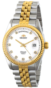 "ORIENT""President"" Classic Automatic Sapphire Watch Two Tone Gold EV0J002W"